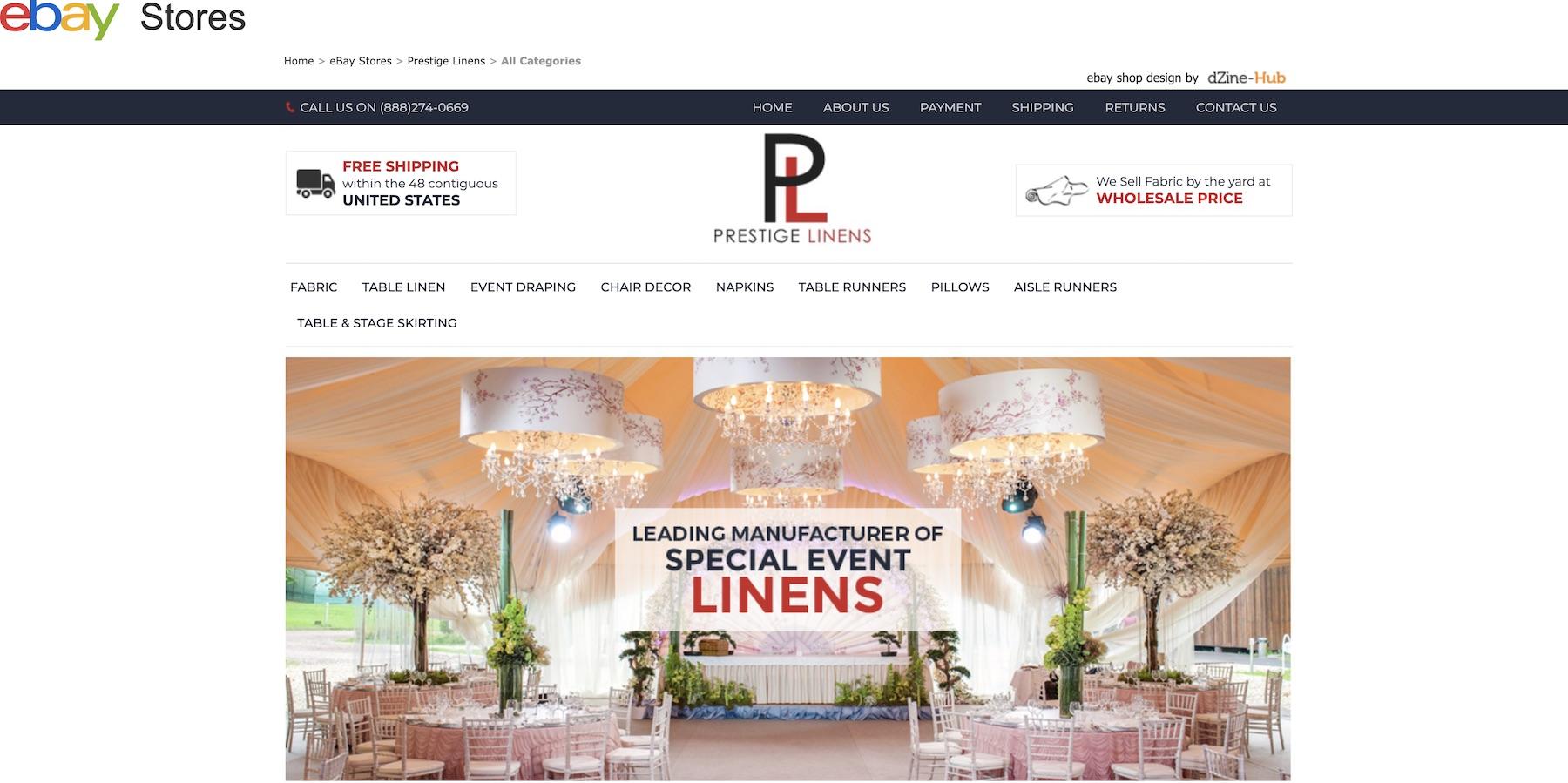 prestige-linen-ebay-store-home